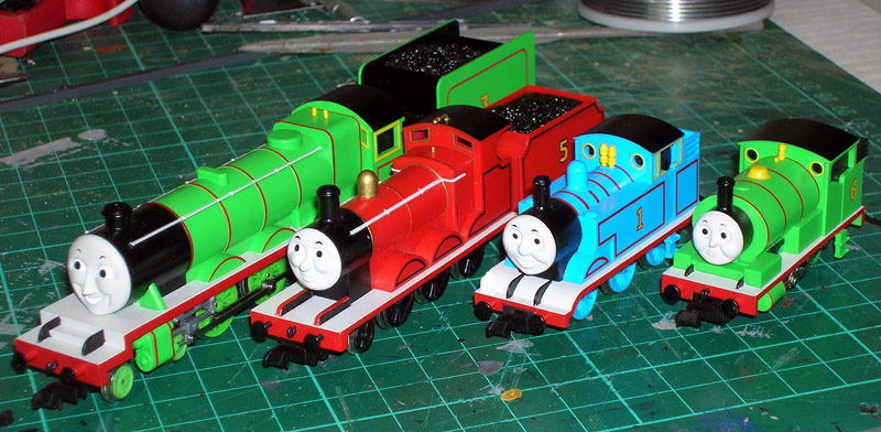 Tomix Thomas The Tank Engine locs - group portrait